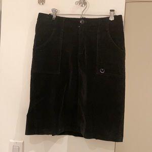 Vintage Stussy black corduroy skirt